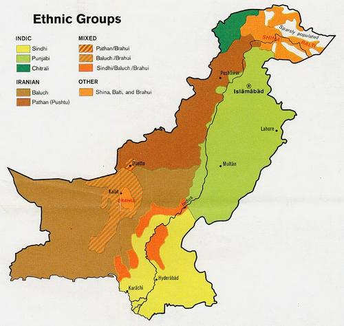 Pakistan Ethnic map